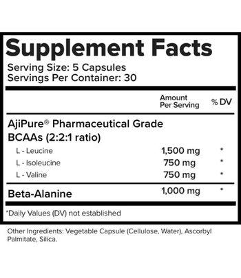 Natural Stacks Natural BCAAs capsules with Beta-Alanine