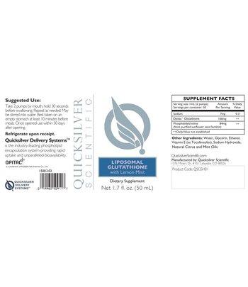 Quicksilver Scientific Liposomal Glutathion