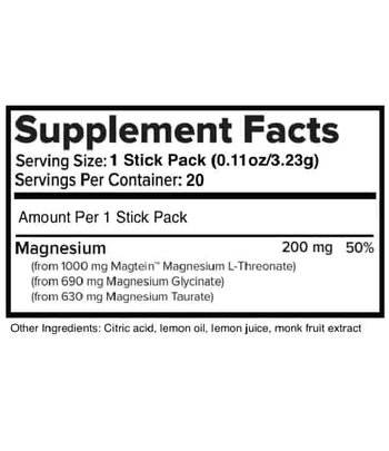 Natural Stacks MagTech Magnesium Drink Mix