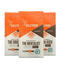 Bulletproof 3-Roast Coffee Variety Pack Ground