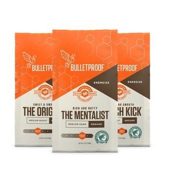 Bulletproof 3-Roast Coffee Variety Pack Ground