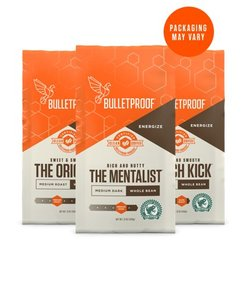 Bulletproof 3-Roast Coffee Variety Pack Whole Bean