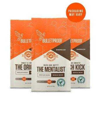 Bulletproof 3-Roast Coffee Variety Pack Whole Bean
