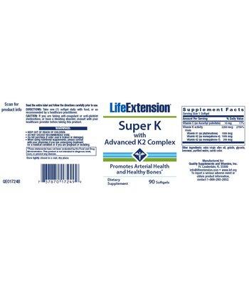 Life Extension Super K Vitamin K Complex