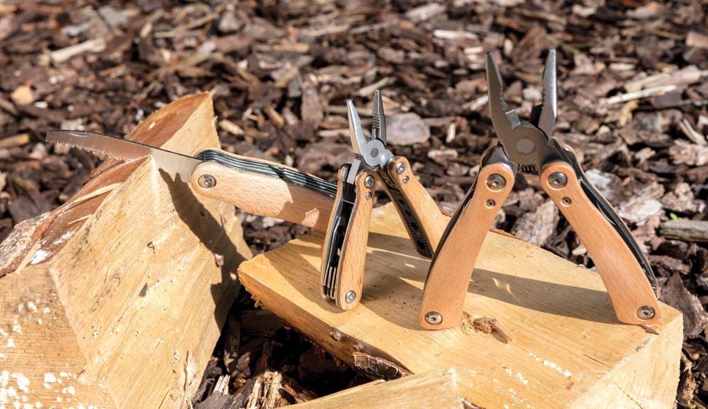 Gereedschap en multitools bedrukken Mini houten multitool P221.37