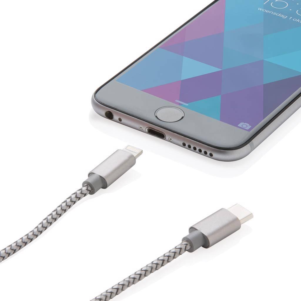 Computer gadgets bedrukken 3-in-1 gevlochten nylon kabel P302.23