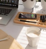 Computer gadgets Bamboe desk organizer met 5W draadloze oplader P308.62