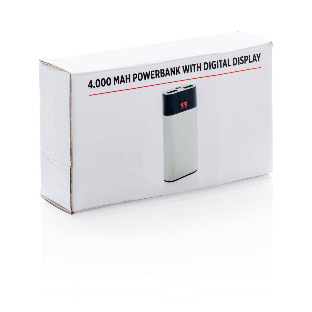 Powerbank bedrukken 4.000 mAh powerbank met digitale display P324.44