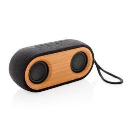 Speakers bedrukken als relatiegeschenk Bamboo X dubbele speaker P328.11