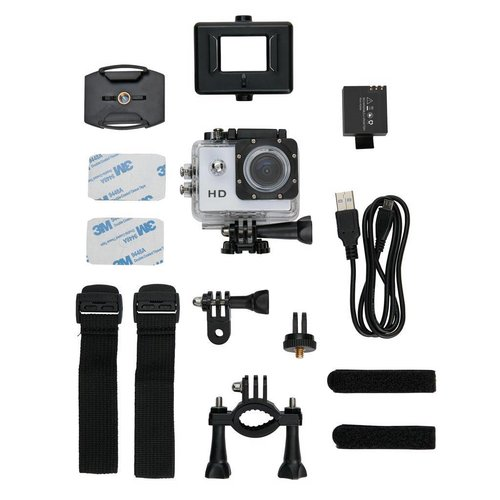 Sportartikelen bedrukken Action camera inclusief 11 accessoires P330.05