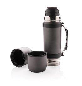 Thermosflessen relatiegeschenk Vacuüm fles met 2 bekers P433.33