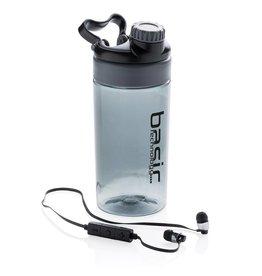 Waterflessen bedrukken Lekvrije sportfles met draadloze koptelefoon P436.44