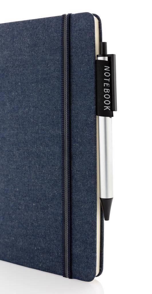 Notitieboekjes bedrukken Deluxe A5 denim notitieboek P772.02