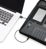 Schrijfmappen bedrukken Tech portfolio met powerbank P772.64