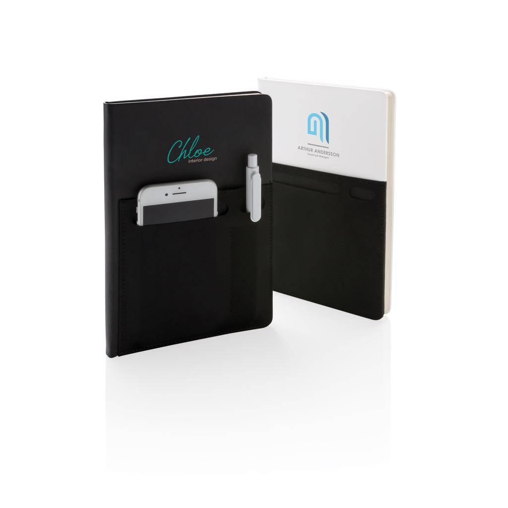 Notitieboekje bedrukken A5 Deluxe notitieboek met slimme opbergvakken P773.01