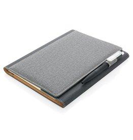 Notitieboekje bedrukken A5 Deluxe design notitieboek omslag P773.08