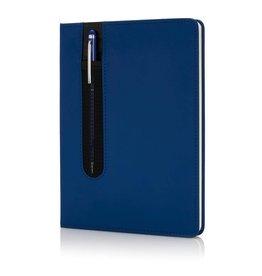 Notitieboekjes bedrukken Standaard hardcover PU A5 notitieboek met stylus pen - P773.317