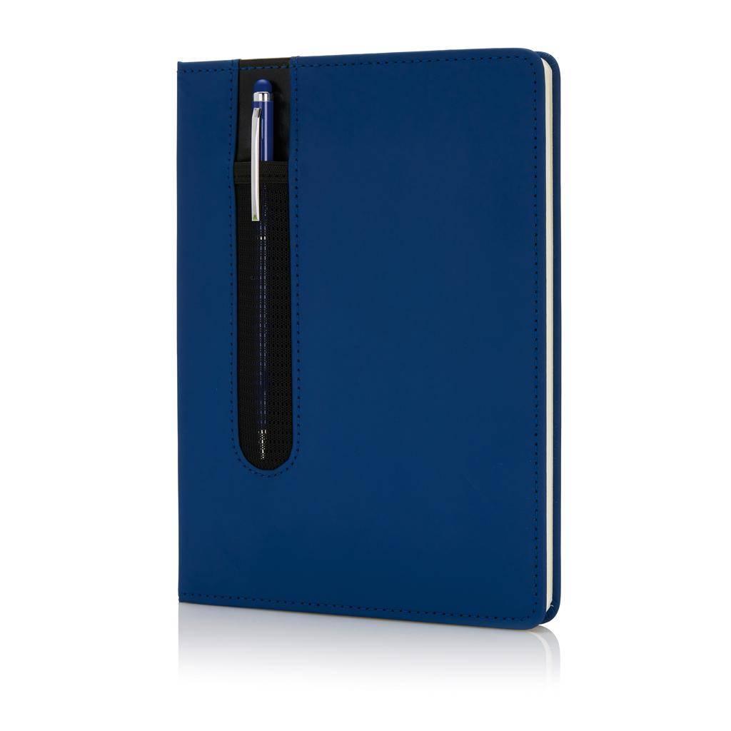 Notitieboekjes bedrukken Standaard hardcover PU A5 notitieboek met stylus pen P773.31