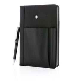 Notitieboekjes bedrukken Hervulbaar notitieboek en pen set - P773.320