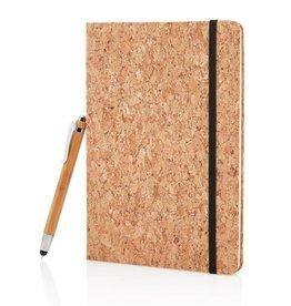 Notitieboekjes bedrukken Notitieboek a5 kurk incl. touchscreen pen