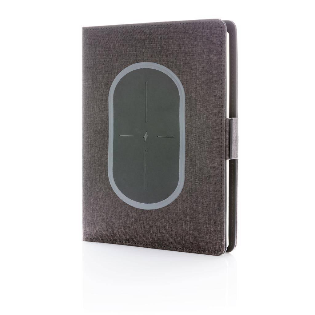 Notitieboekjes bedrukken Air draadloos oplader notitieboek omslag A5 P773.87
