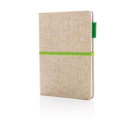 Notitieboekje bedrukken A5 Eco jute katoen notitieboek P773.94