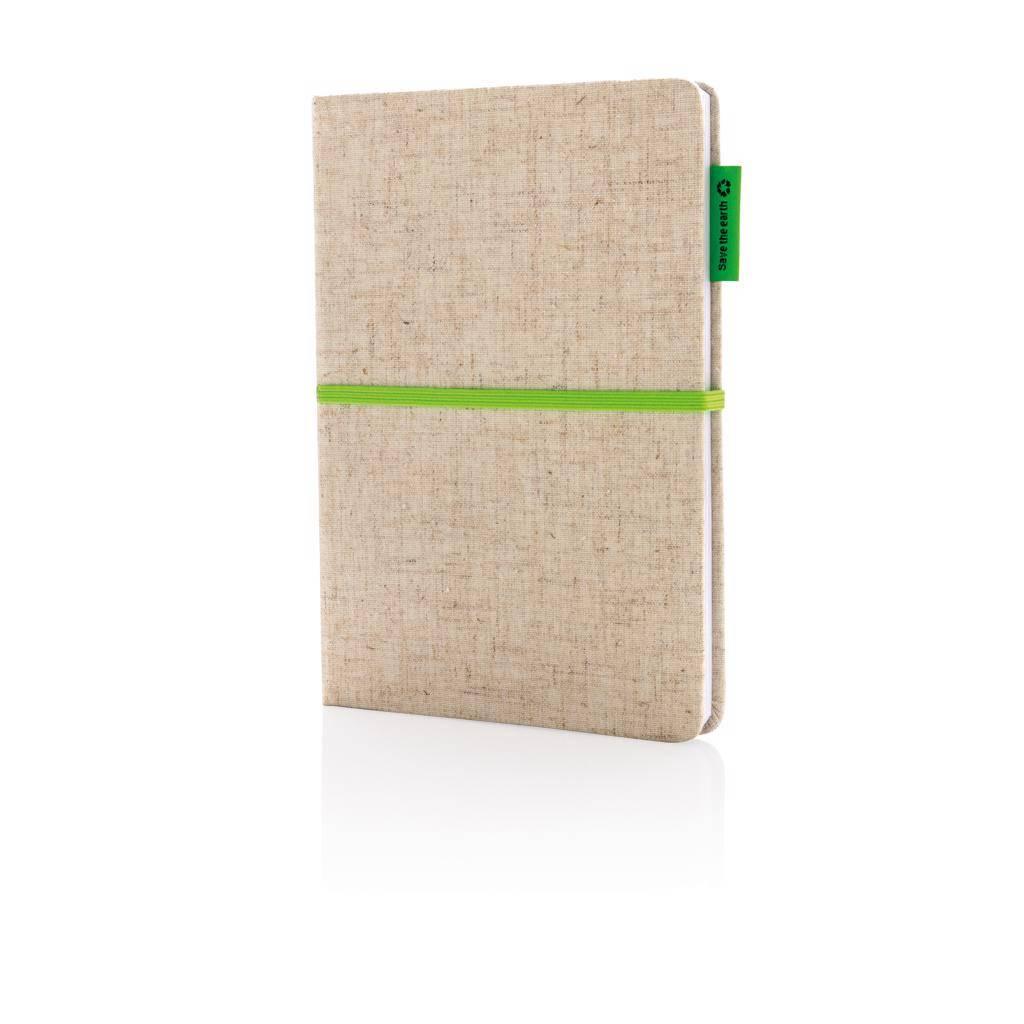 Notitieboekjes bedrukken A5 Eco jute katoen notitieboek P773.94