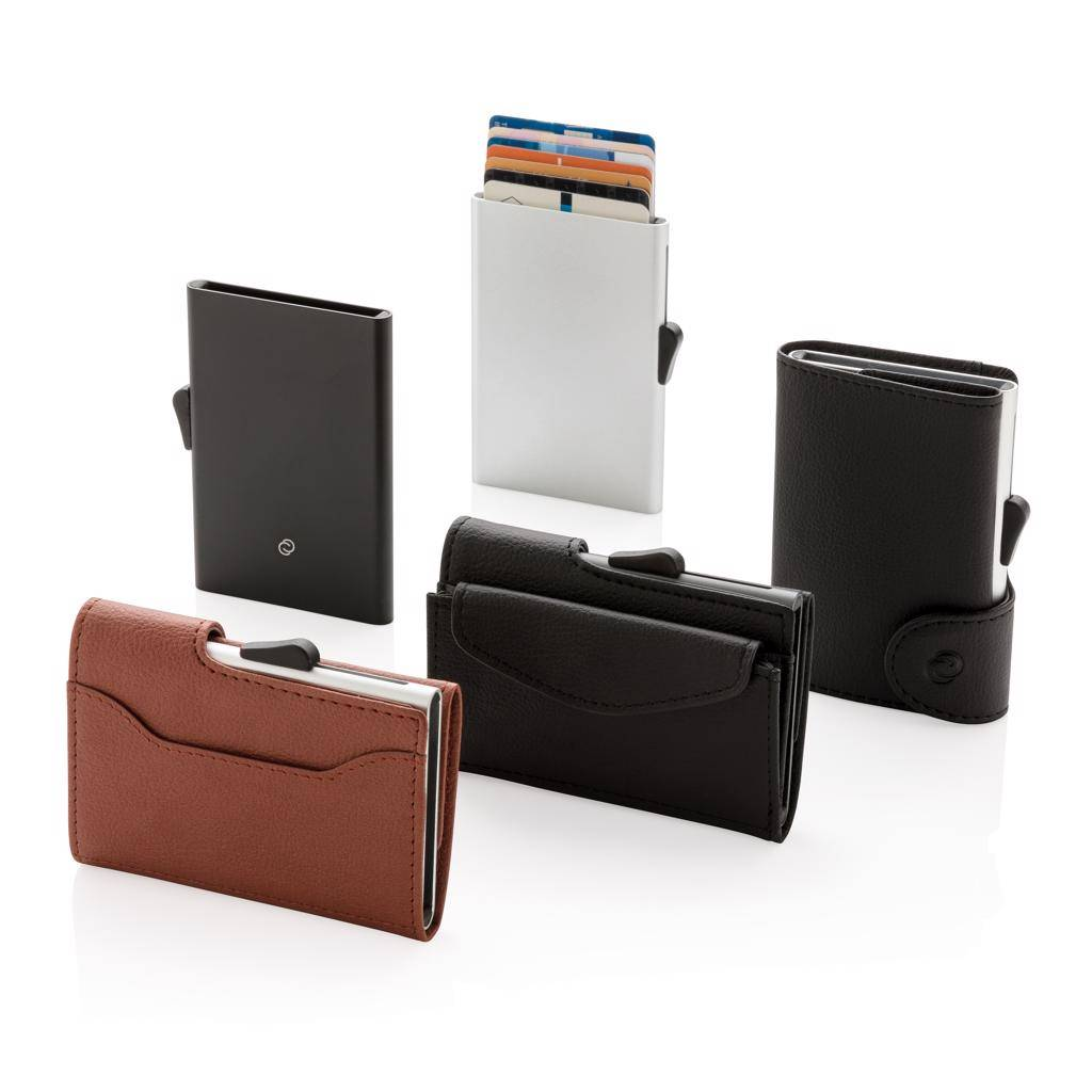 RFID Relatiegeschenk  bedrukken C-Secure RFID kaarthouder & portemonnee met muntvakje P820.61