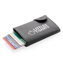 RFID Relatiegeschenk  bedrukken C-Secure aluminium RFID kaarthouder & portemonnee P850.511