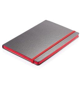 Notitieboekje bedrukken Deluxe hardcover A5 notitieboek met gekleurde zijde P773.30