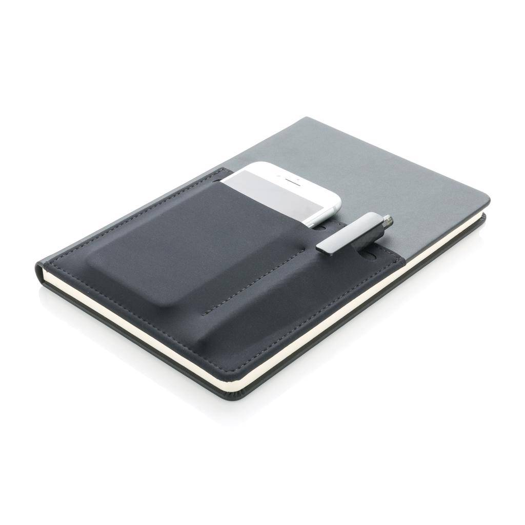Notitieboekjes bedrukken A5 Deluxe notitieboek met slimme opbergvakken P773.01