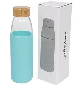 Waterflessen bedrukken Kai 540 ml glazen drinkfles met houten deksel