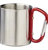 Thermo mok bedrukken Alps geïsoleerde drinkbeker met karabijnhaak 10056300