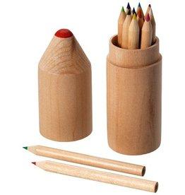 Kleurpotlood relatiegeschenk 12 Delige potlodenset
