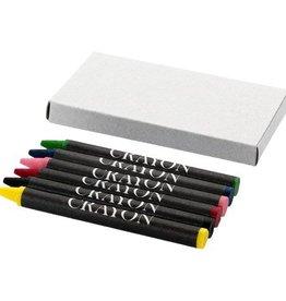 Vul- en potloden bedrukken Set van 6 waskrijtjes