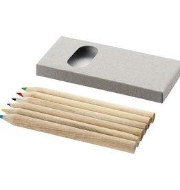 Kleurpotlood bedrukken 6 Delige potlodenset
