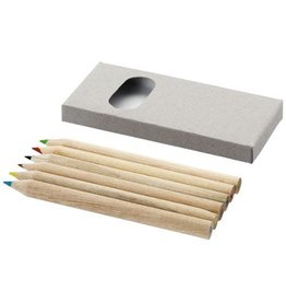 Kleurpotlood relatiegeschenk 6 Delige potlodenset