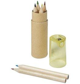 Kleurpotlood relatiegeschenk 7 Delig potlodenset