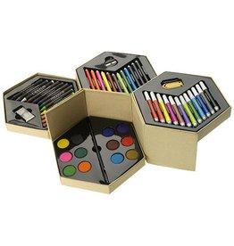 Kleurpotlood relatiegeschenk 52 delig kleurenset