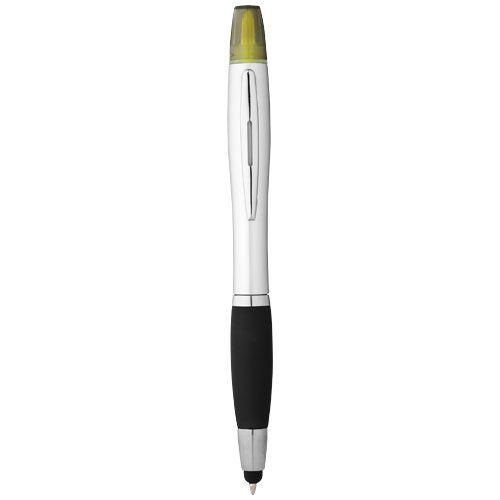 Stylus pennen bedrukken Nash stylus balpen en markeerstift met zilveren houder n gekleurde grip 10658100