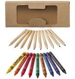 Kleurpotlood bedrukken 19 Delige set waskrijtjes en kleurpotloden 10678800