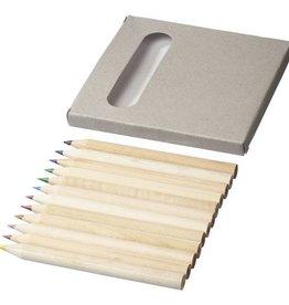 Kleurpotlood relatiegeschenk 12 delige potloden set