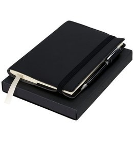 Notitieboekjes bedrukken als relatiegeschenk Aria cadeauset met notitieboek en pen - 10712400