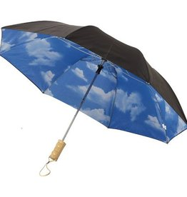 "Opvouwbare paraplu bedrukken Blue skies 21"" 2-sectie automatische paraplu"