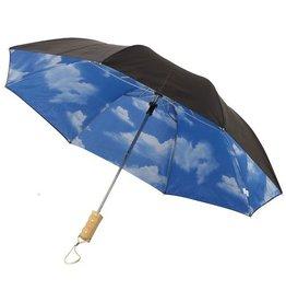 """Opvouwbare paraplu relatiegeschenk Blue skies 21"""" 2-sectie automatische paraplu"""