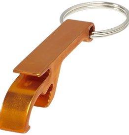 Sleutelhangers bedrukken Tao sleutelhanger met fles en blikopener