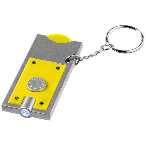 Sleutelhangers Allegro sleutelhanger met munthouder en lampje 11809600