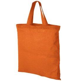 Boodschappentassen bedrukken Virginia 100 g/m² katoenen draagtas met korte hengsels