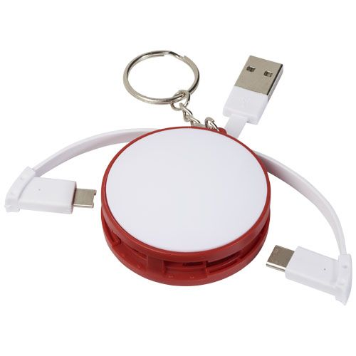 Smartphone accessoires bedrukken 3 in 1 kabel met oplaadkabel en sleutelhanger 13495900