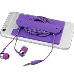 Hoofdtelefoons Wired oordopjes en silicone kaarthouder